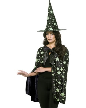 Midnight witch costume kit for women