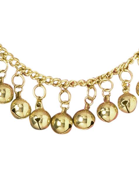 Ankelband zigenerska med pinglor i guld dam