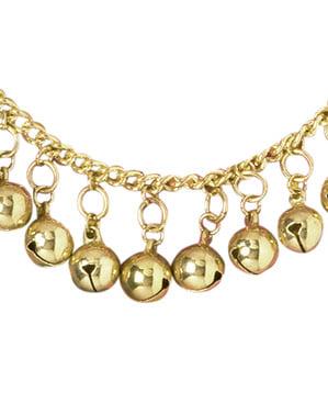 Tornozeleira cigana com guizos dourados para mulher