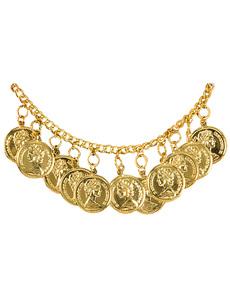 Tobillera gitana con monedas doradas para mujer