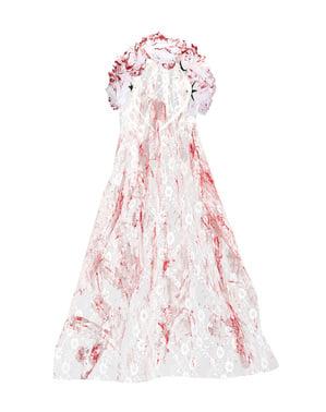 Dámský zakrvácený závoj nevěsty
