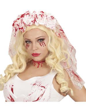 Véu de noiva zombie para mulher