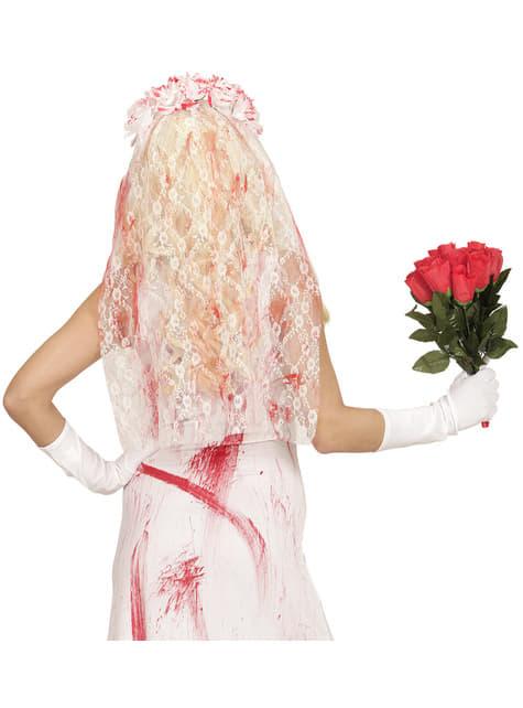 Velo de novia ensangrentado para mujer - Halloween