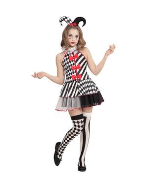 Maskeraddräkt busig Harley Quinn barn