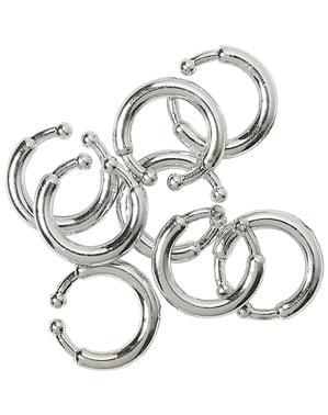Sett med 8 Klipe piercinger