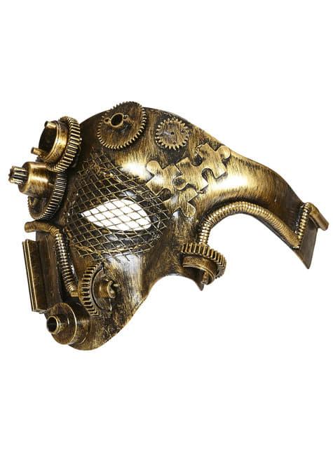 Steampunk halvmaske til voksne