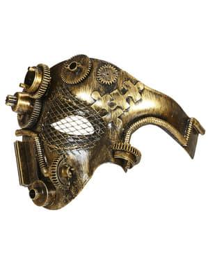 Maska steampunk na pół twarzy dla dorosłego