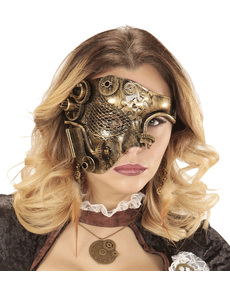 Media máscara steampunk para adulto