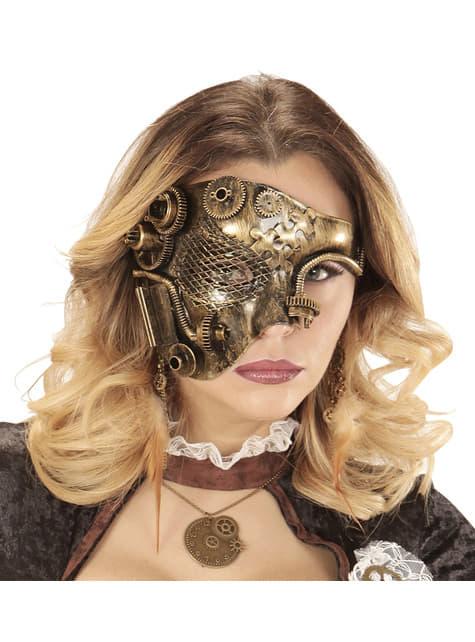 Media máscara steampunk para adulto - para tu disfraz