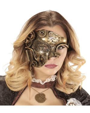 Dospělá steampunk maska na půl obličeje