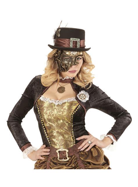 Meia máscara steampunk para adulto