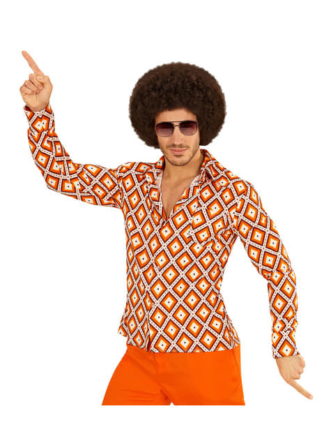 70's retro diamond shirt for men