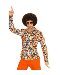Camisa retro burbujas de los años 70 para hombre