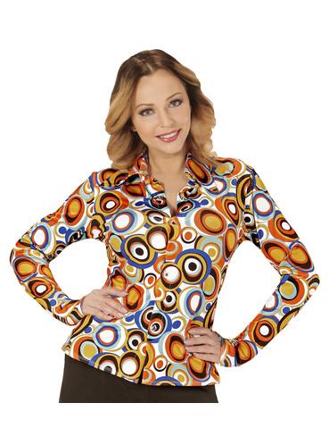 chemise retro bulles ann es 70 femme funidelia. Black Bedroom Furniture Sets. Home Design Ideas