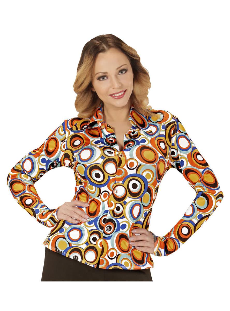 Camicia retr cerchi anni 39 70 per donna funidelia for Cucinare anni 70