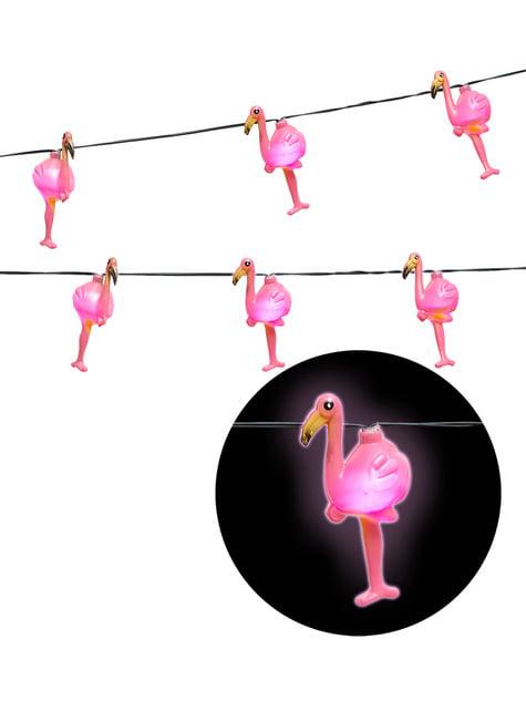 Guirnalda luminosa de flamencos - para tus fiestas