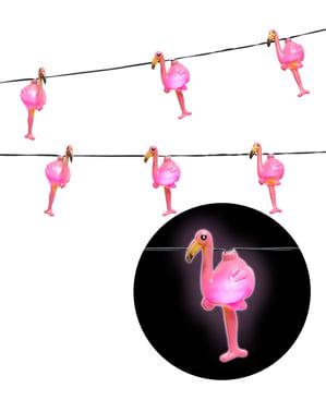 Ghirlandă luminoasă cu flamingo
