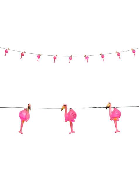 Guirnalda luminosa de flamencos