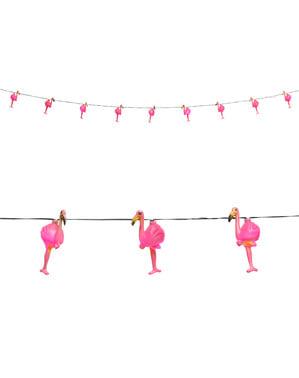 Lysende flamingo guirlande