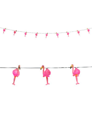 Светлинен венец от фламинго