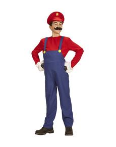 Disfraz de Super Fontanero Mario para niño