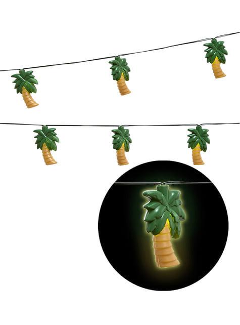Guirnalda luminosa de palmeras