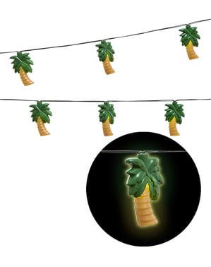 Grinalda luminosa de palmeiras