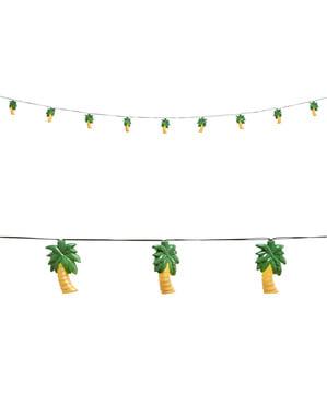 Ghirlandă luminoasă cu palmieri