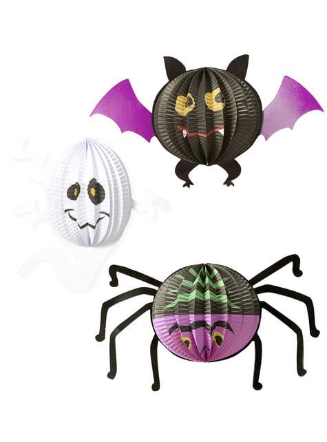 3 Halloween-Luftballons (20-27-29 cm)