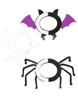 3 Halloween papirlanterner (20-27-29 cm)