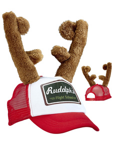 f335258cd309e Adults  cap with reindeer antlers ...