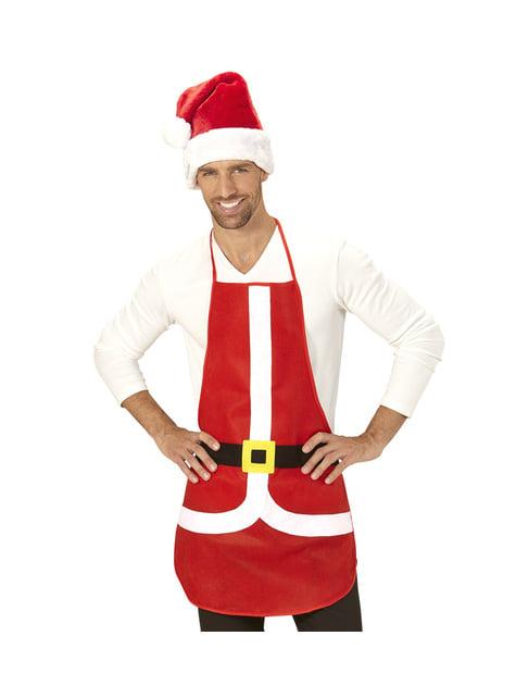 Fartuch Święty Mikołaj dla dorosłych