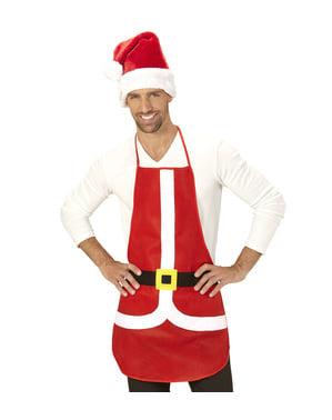Delantal de Papá Noel para adulto