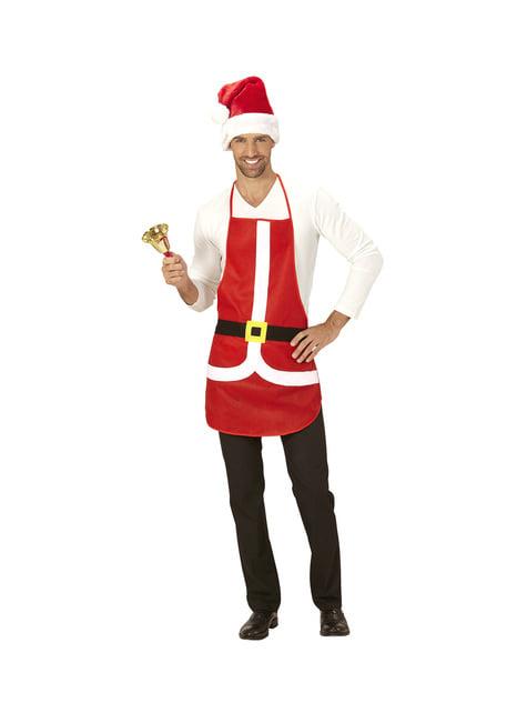 Delantal de Papá Noel para adulto - original
