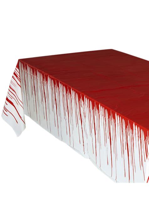 Obrus poplamiony krwią duży