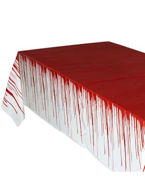 Riesige blutüberströmte Tischdecke