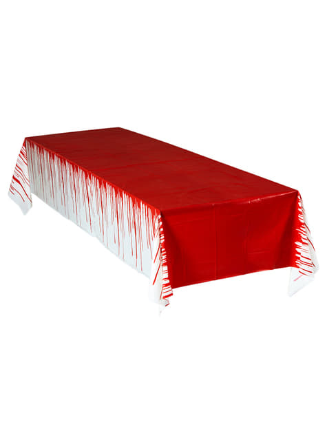 Toalha de mesa ensanguentada gigante