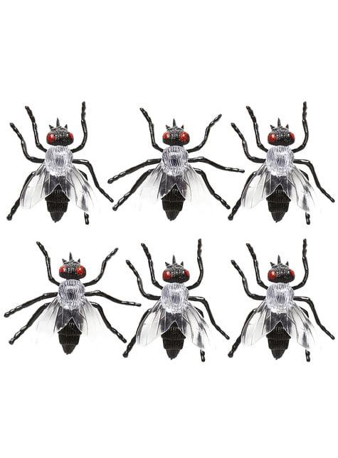 6 moscas infectadas Halloween