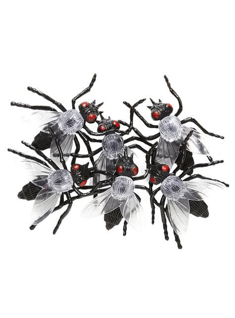 6 moscas infectadas Halloween - para tus fiestas