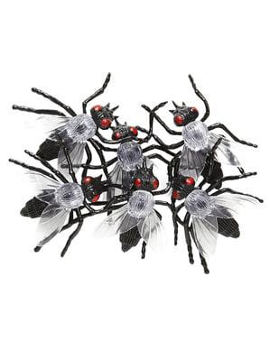 Sada dekorativních infikovaných much