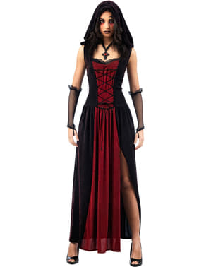 Kostium gotycki z kapturem dla kobiet
