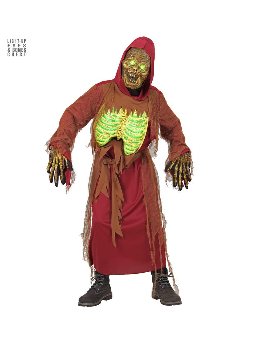 leuchtendes zombie skelett kost m f r kinder funidelia. Black Bedroom Furniture Sets. Home Design Ideas