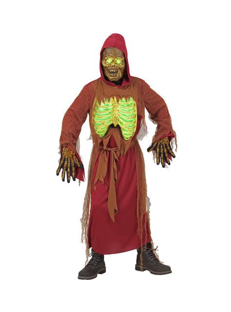 Déguisement squelette zombie lumineux enfant