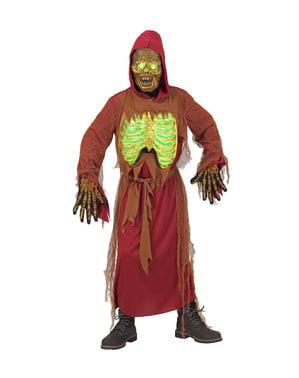 Belyst zombie skjelett kostyme for barn