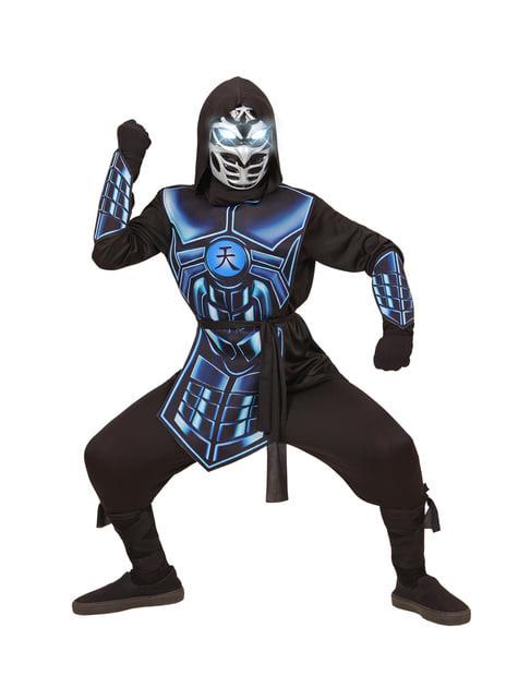 Kids blue cyber ninja costume