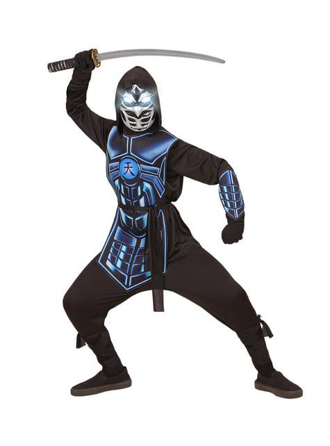 Disfraz de cyber ninja azul infantil - original