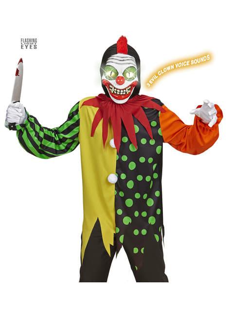 Disfraz de payaso cantarín asesino para niño
