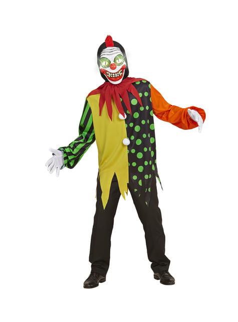 Strój śpiewający klaun zabójca dla chłopca