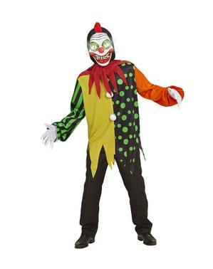 Draps syngende klovn kostyme for gutter