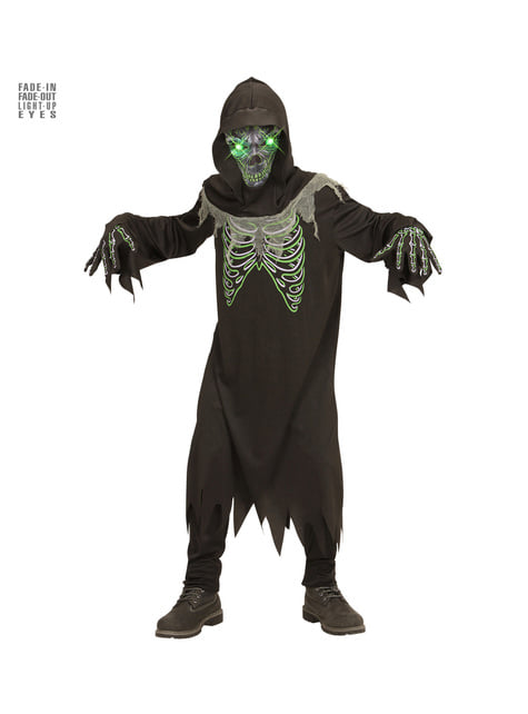 Boys' illuminated soul stealer death costume
